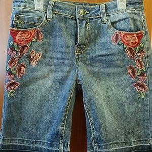 Girls Embroidered Denim shirts